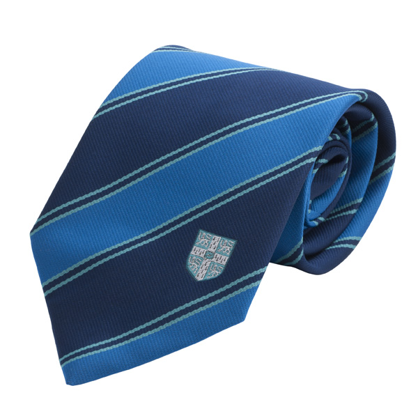 Tie - Double Stripe Blue