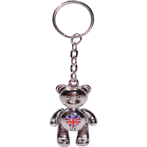 Key Ring - Silver Bear