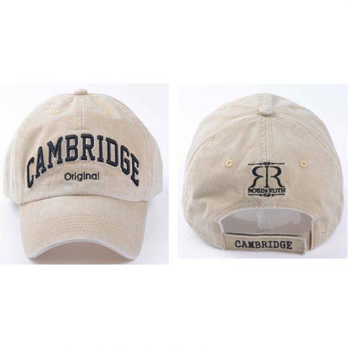 Dorian beige cap with Cambridge on the front