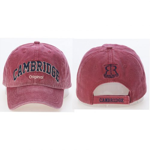 Dorian cap maroon with Cambridge on the front