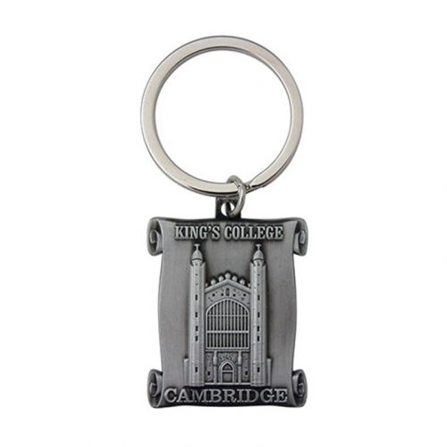 pewter keyring of kings college chapel