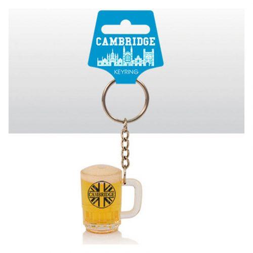 Keyring with mini beer tankard