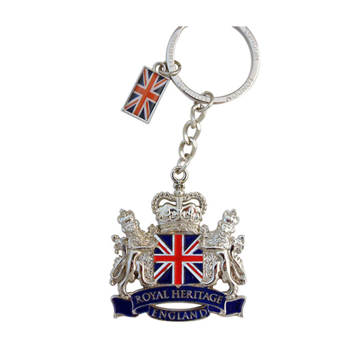 Keyring with Union Jack in Royal coat of arms