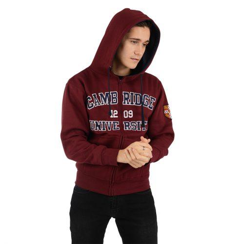 University-of-Cambridge-embroidered-zip-hoodiet-maroon