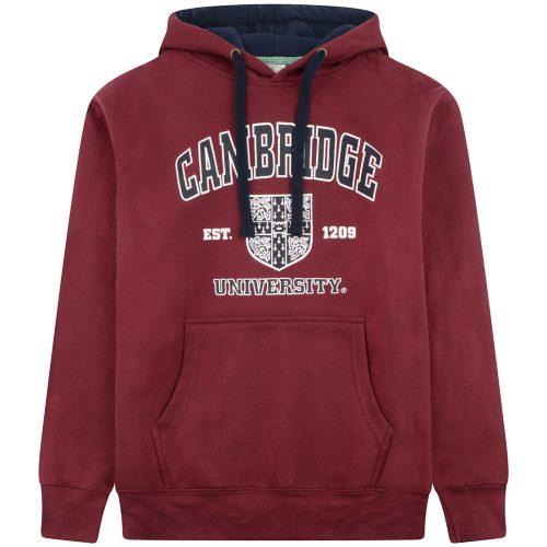 University-of-Cambridge-harvard-crest-printed-hoodie-maroon