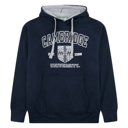 University-of-Cambridge-harvard-crest-printed-hoodie-navy