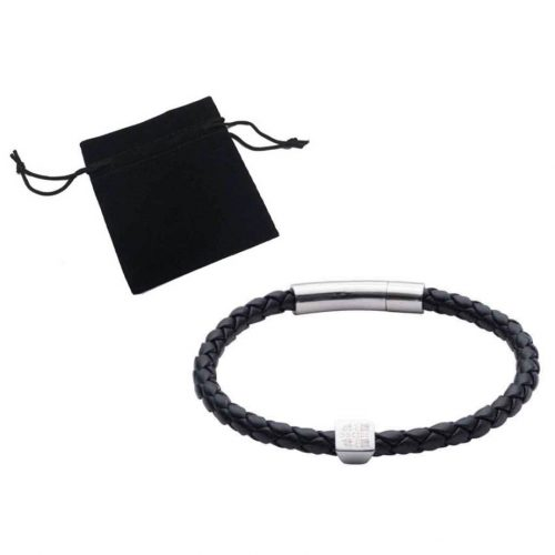 Elizabeth Parker Leather Bracelet - Black