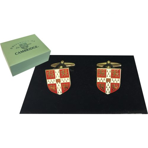Elizabeth Parker University of Cambridge red crest cuff links