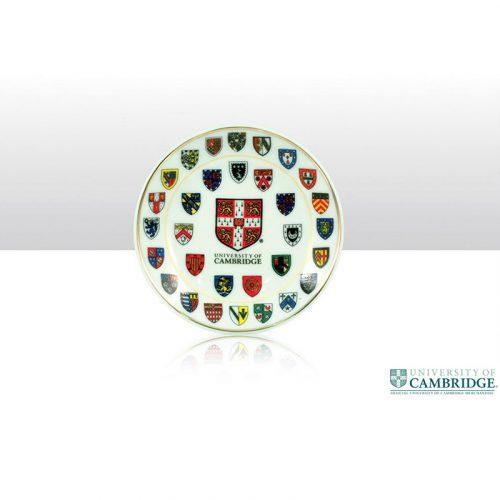 University of Cambridge college crests small 10cm plate