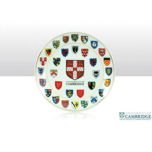University of Cambridge college crest medium 15cm plate