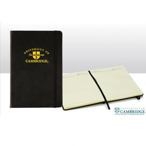 University A5 gold embossed pad