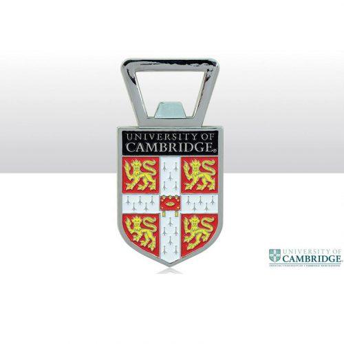 University of Cambridge red shield bottle opener fridge magnet