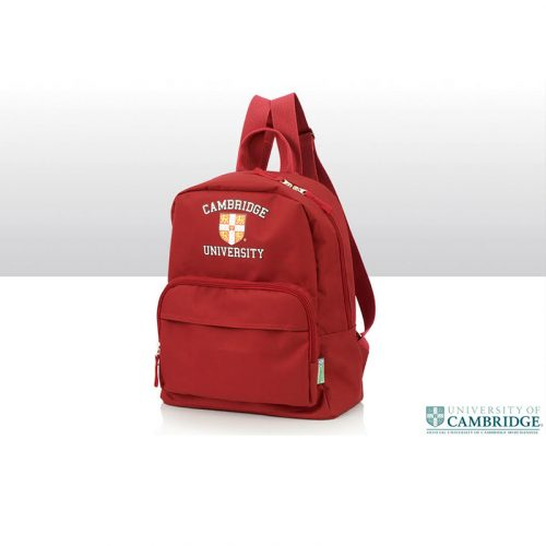 University of Cambridge backpack in burgundy