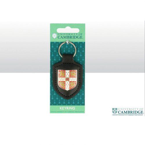 University of Cambridge leather fob shield