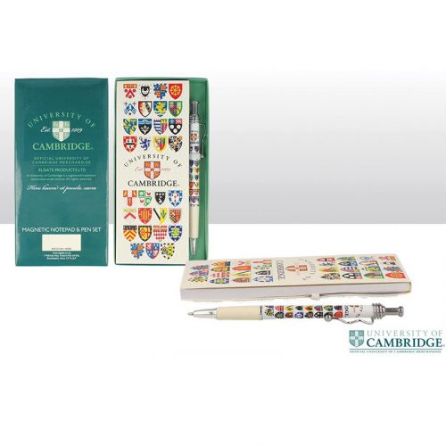 University of Cambridge magnetic notepad and pen set