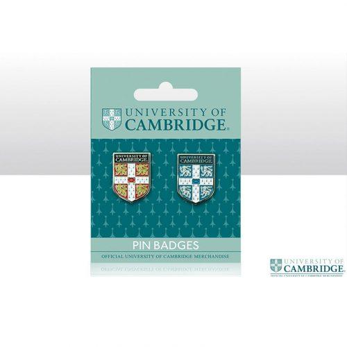 University of Cambridge pin badge double pack