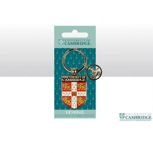 University of Cambridge metal shield keyring